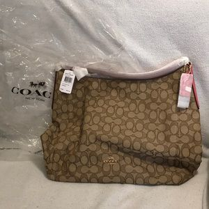 NEW COACH bag khaki/ strawberry 🍓 gold -